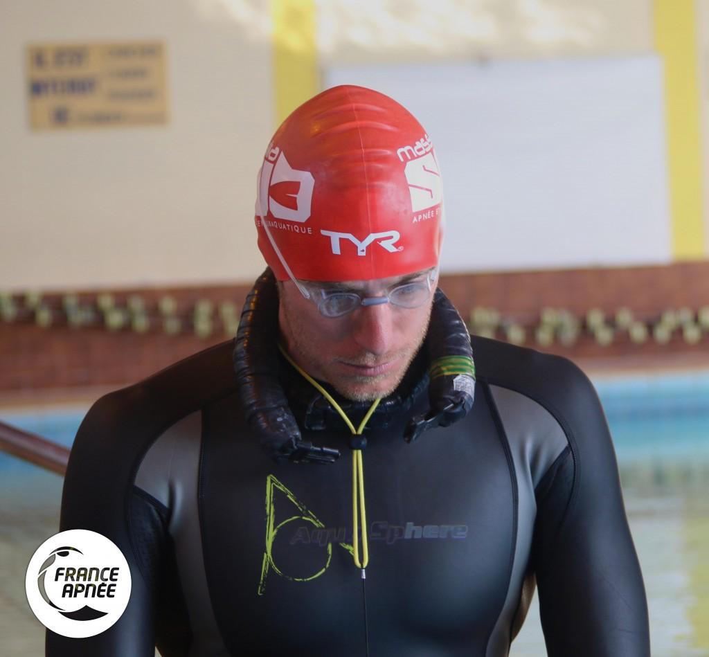 Morgan Bourc'His avant 155m DNF photo : France Apnée