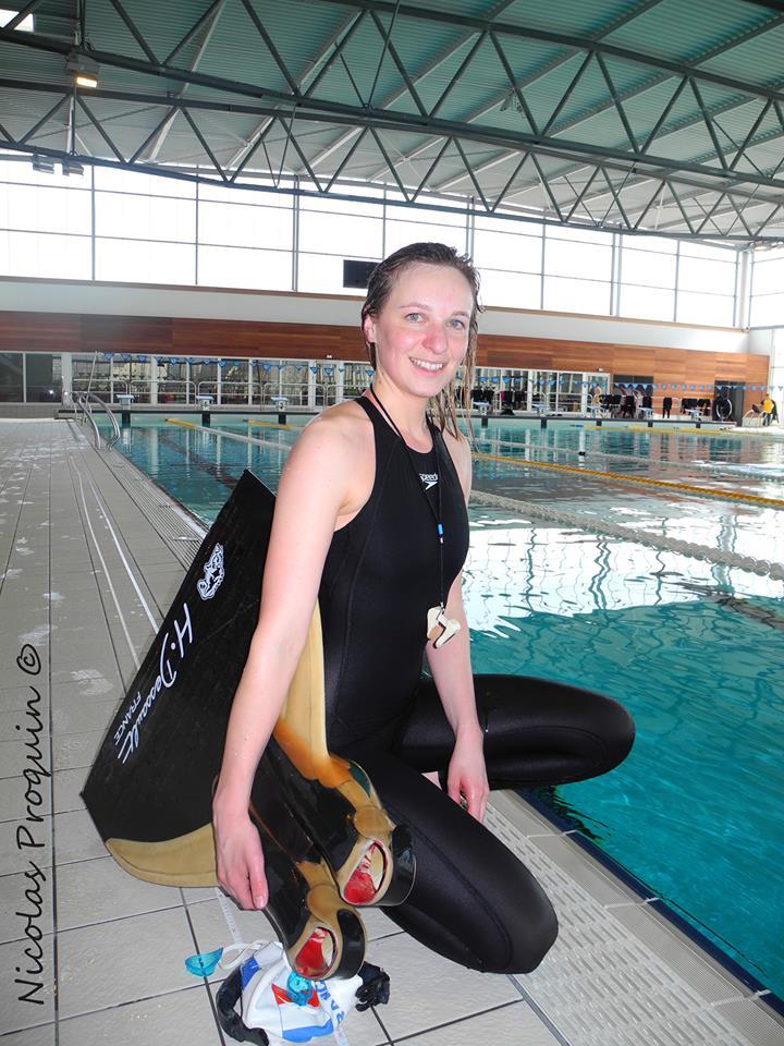 Alice Modolo à Nîmes lors de la Coupe des plongeurs libres photo: Nicolas Proquin