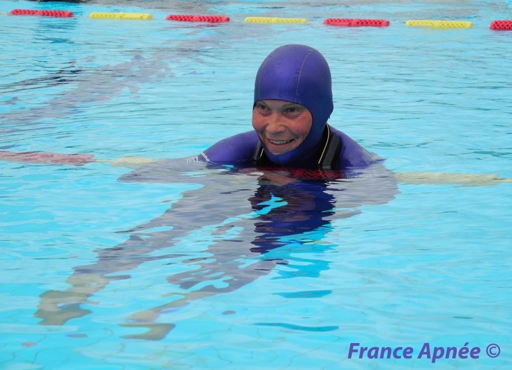 Natalia Molchanova prend toutes les médailles d'or et bat tous les records du monde (STAT-DYN-DNF) à Belgrade. photo : France Apnée (2013)