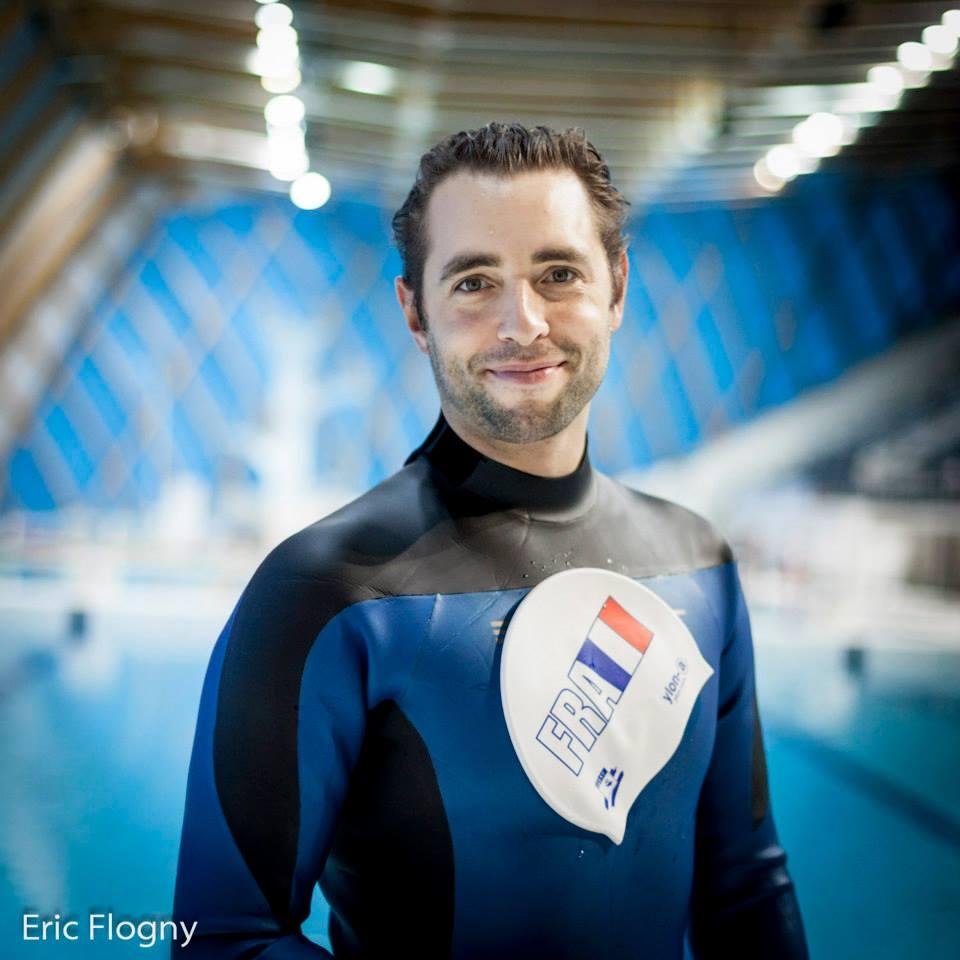 Arthur Guerin-Boeri, champion du monde avec 200m DNF photo  : Eric Flogny pour la FFESSM