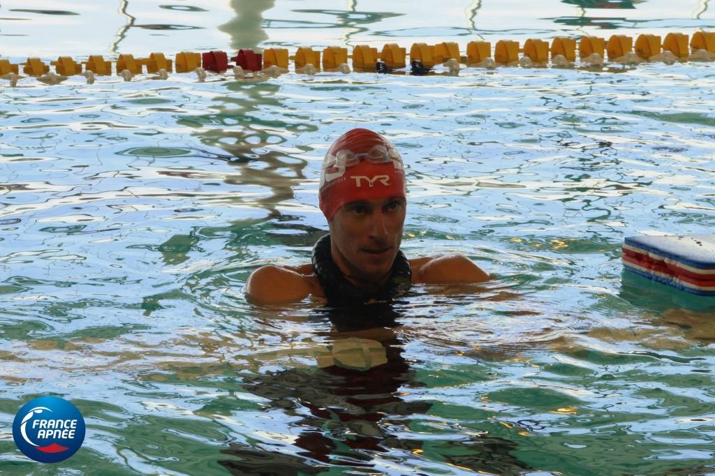 Bourc'His avec palme et la manière Morgan Bourc'his n'avait pas fait de perf en dynamique palme depuis ... septembre 2012 lors des mondiaux par Equipe à Nice! Aucun doute il sait toujours se servir d'une palme puisqu' aujourd'hui il a nagé 215m avec par ailleurs une très belle sortie!