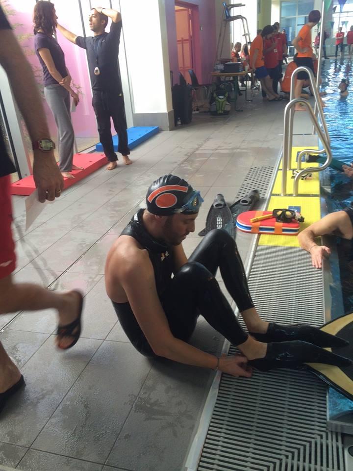 Nicolas Fougerousse se prépare a annoncé 150m DYN. Il nagera 200m en bassin de 25 !