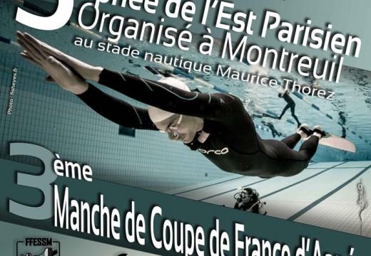 3e manche de la Coupe de France FFESSM – Montreuil 2015