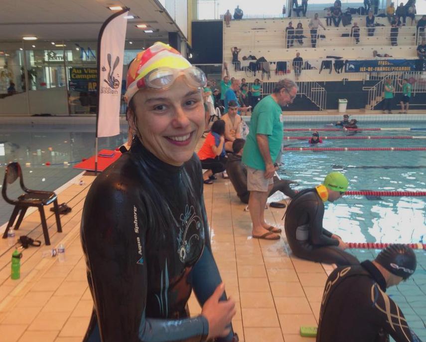Sylvie Gilson, touit sourire après 90m DNF