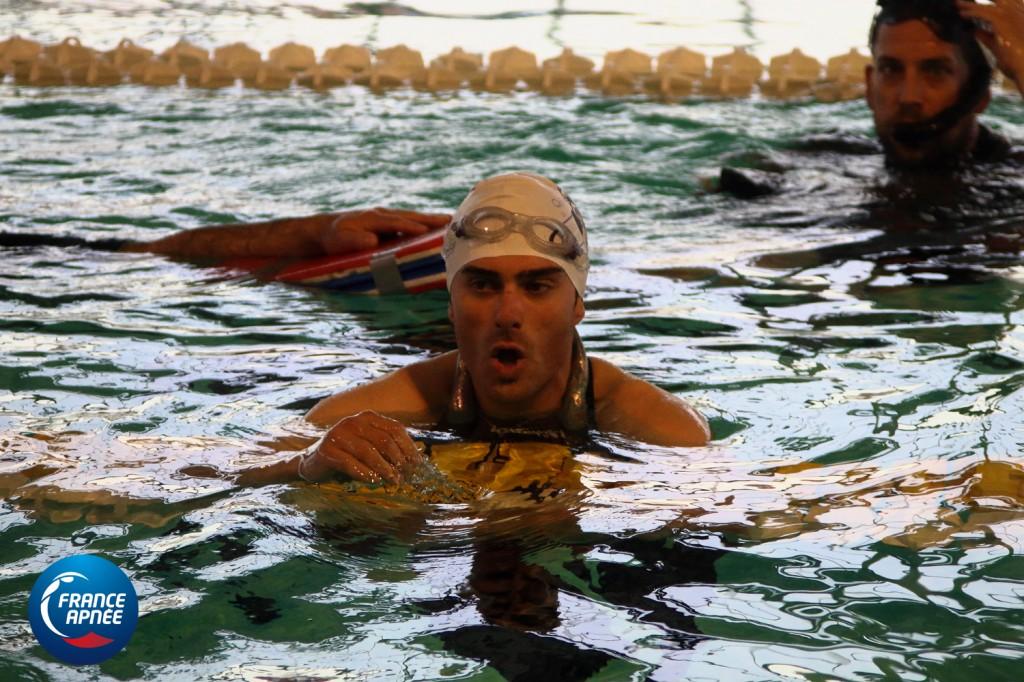 sortie solide à 277m DYN pour Guillaume qui bat son propre record de France et qui se rapproche du record du monde de Goran Colak