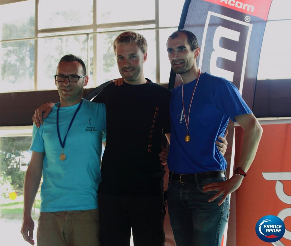 Nicolas Fougerousse à 202m avec Frank Caillet et Nicolas Proquin tous les deux à 177m (25 pool)