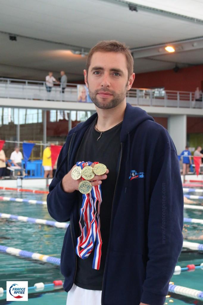 Arthur Guérin-Boéri, champion de France FFESSM 2015 et premier athlète à atteindre les 600 points