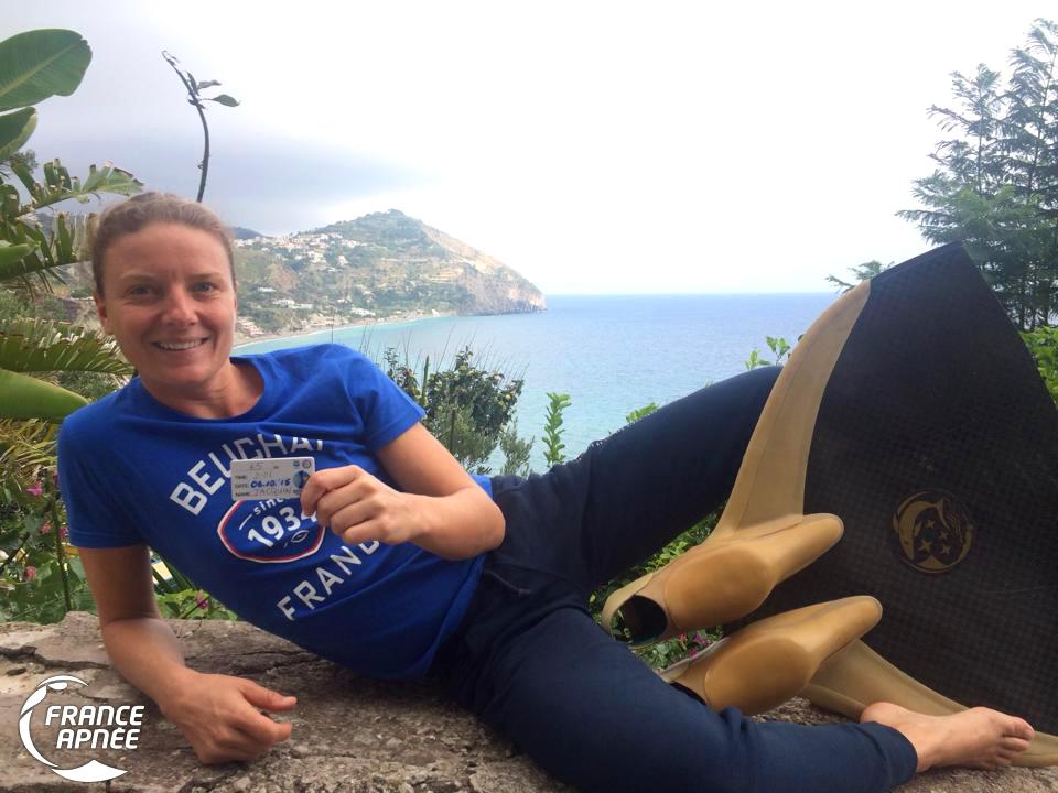 Sophie Jacquin et sa plaquette des -65m CWT