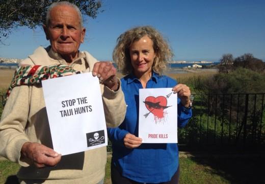 Maiorca père et fille dénoncent le massacre des dauphins de Taiji au Japon