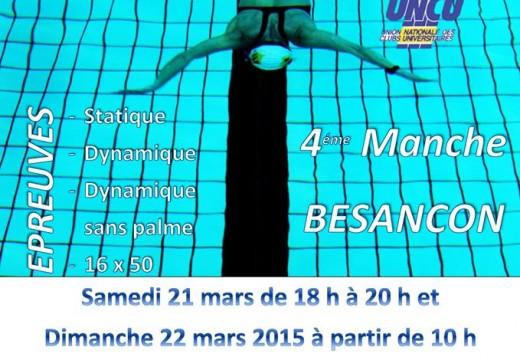 4e manche de la Coupe de France FFESSM – Besançon