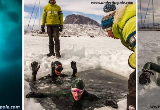 Aurore Asso à 112m DYN et -57m CWT sous la glace du Groenland (WR Guiness)