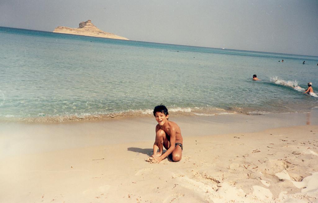 Walid sur une plage tunisienne